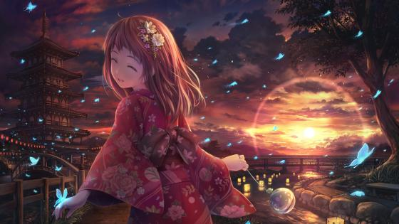 Japanese anime girl wallpaper