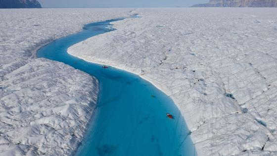Blue River in Petermann Glacier wallpaper