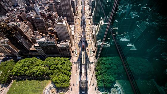 New York City aerial view wallpaper