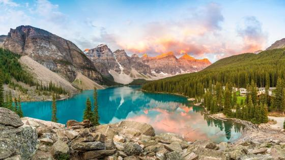 Moraine Lake, Valley Of Ten Peaks wallpaper