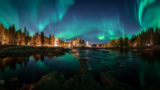 Aurora Borealis Finland wallpaper