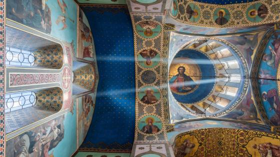 Murals on the Ceiling of the Tbilisi Sioni Cathedral wallpaper