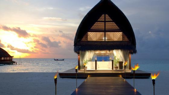 Wedding resort in Maldives wallpaper