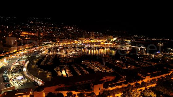 Monte Carlo - Monaco by night wallpaper