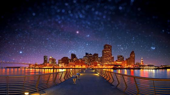 San Francisco by night wallpaper