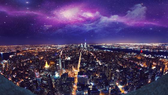 New York City by night wallpaper
