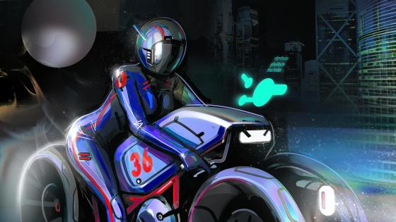 Motorbiker wallpaper
