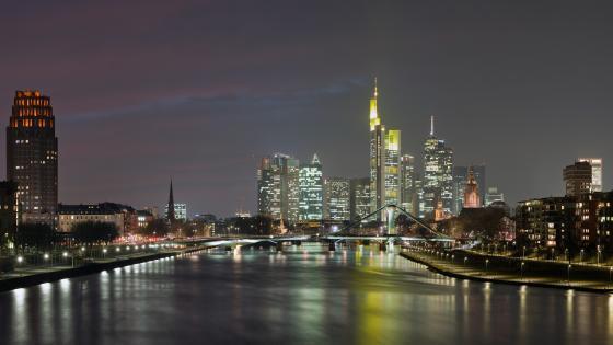 Frankfurt Skyline at Night wallpaper