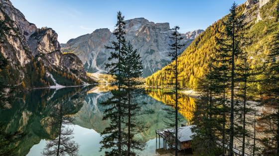 Pragser Wildsee, Italy wallpaper