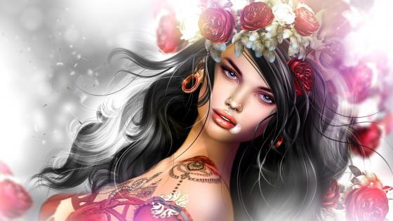 Gypsy girl wallpaper