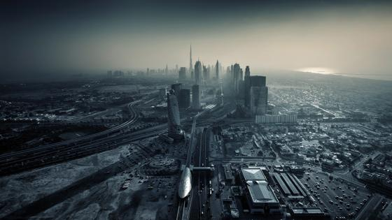 Monochrome Dubai wallpaper