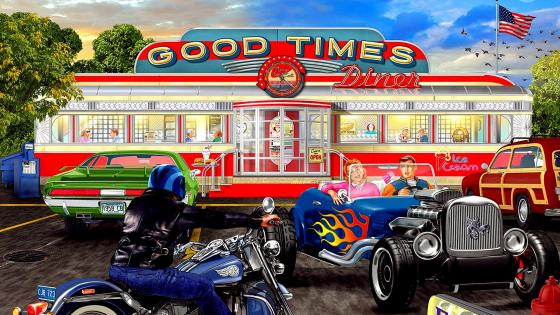 Good Times Diner wallpaper