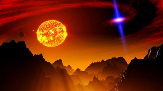Quasar planet wallpaper