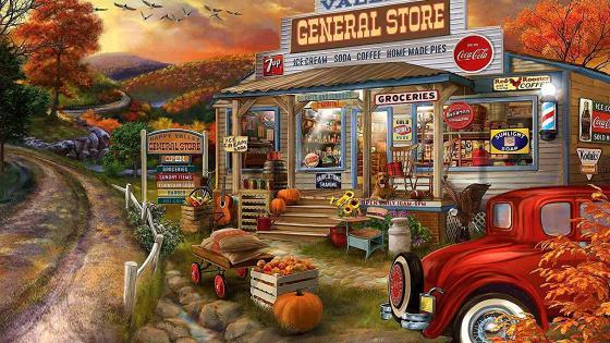 General Store wallpaper