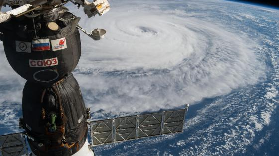 Typhoon Noru Seen from the International Space Station (ISS) wallpaper