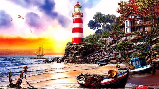 Sunset Bay wallpaper