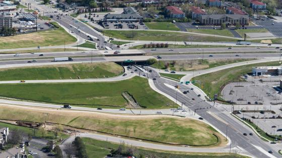 Diverging Diamond Interchange of Interstate 70 & Fifth Street wallpaper