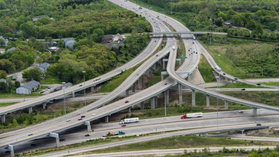 Interstate 470 at the 3-Trails Crossing Interchange wallpaper