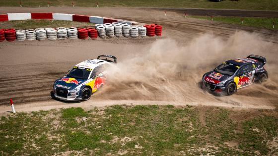 Sébastien Loeb & Andreas Bakkerud Drifting at the 2018 World RX of Canada wallpaper