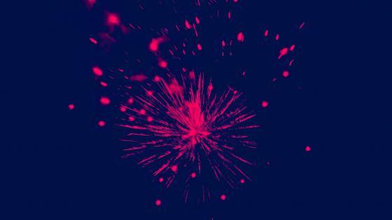 Red firework wallpaper