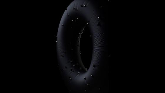Black ring Premium wallpaper