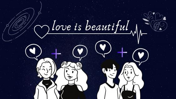 love is beautiful wallpaper
