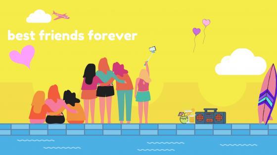 best friends forever wallpaper