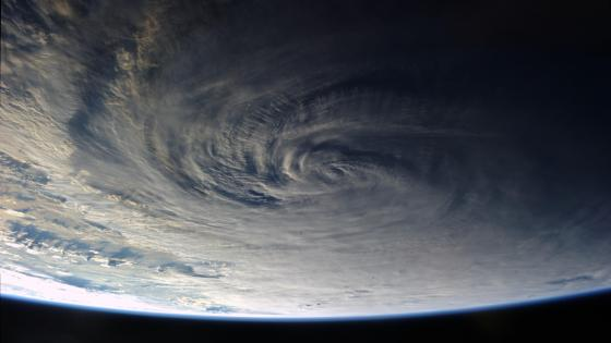 Typhoon Halong Viewed from the International Space Station wallpaper