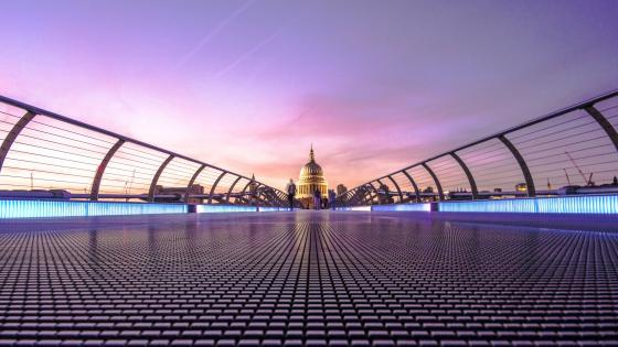 Millennium Bridge, London wallpaper