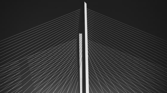 Golden Gate Bridge minimal art wallpaper
