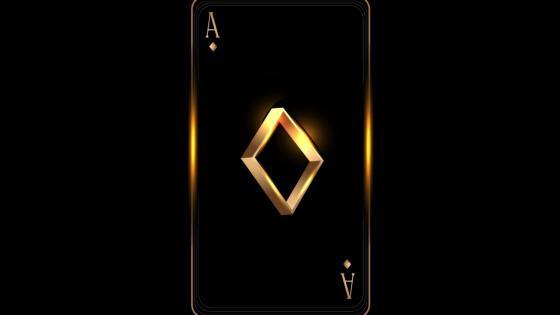 Golden diamond Ace wallpaper