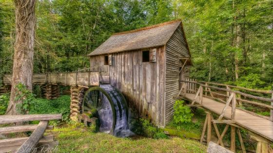 John P Cable Grist Mill wallpaper