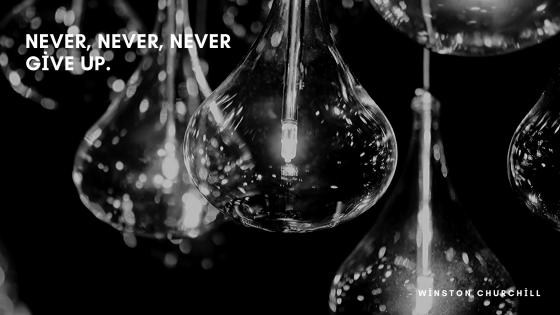 never , never , never , give up wallpaper