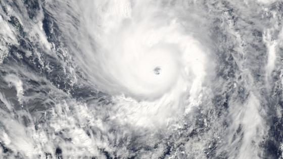 Super Typhoon Yolanda Approaching the Philippines wallpaper