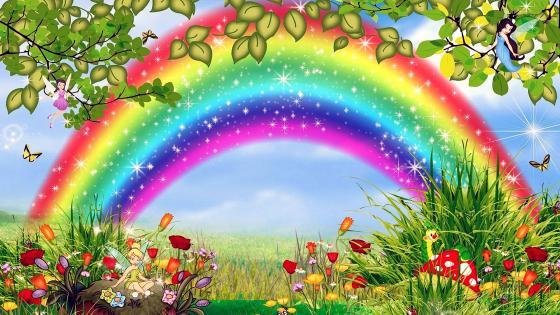 Fantasy Rainbow wallpaper