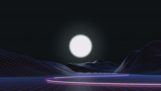 Synthwave landscape wallpaper