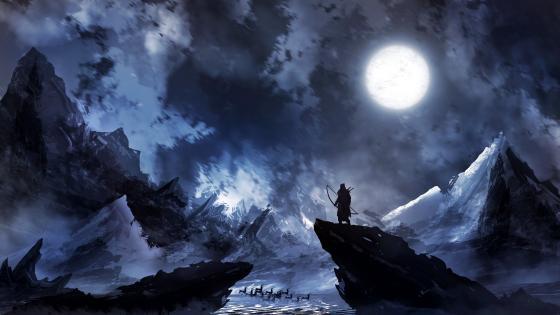 Loneliness Fantasy Digital Art wallpaper