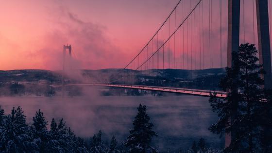Höga Kusten Bridge wallpaper