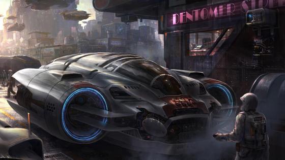 Scifi concept art wallpaper