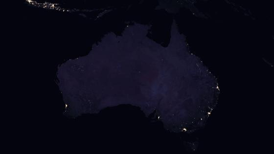Night Lights of Australia & Indonesia's Java Island 2016 wallpaper