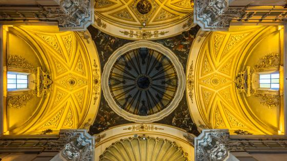 Ceiling of San Juan el Real, Calatayud wallpaper