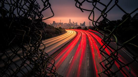 San Francisco light trails wallpaper