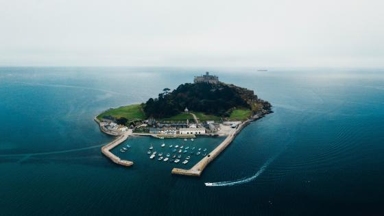 St Michael's Mount Aerial view wallpaper