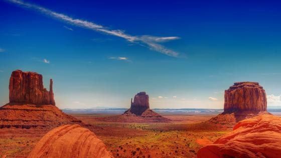Arizona's famous buttes wallpaper