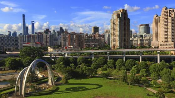 Park Near Nanpu Bridge wallpaper