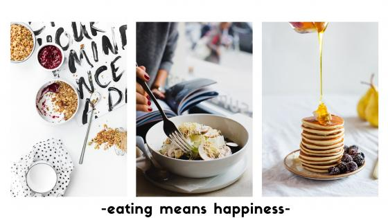 eating means happiness wallpaper