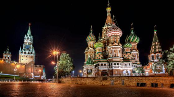 Red Square At Night Moscow Russia wallpaper