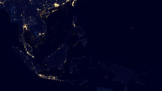 Southeast Asia's Night Lights v2012 wallpaper