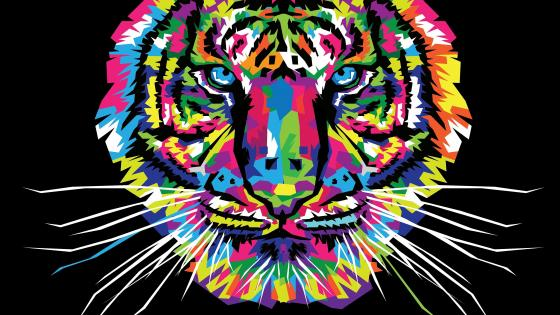Colorful Tiger wallpaper