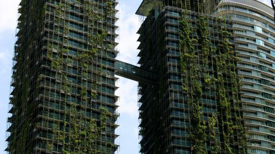 Hanging Gardens on Skyscrapers in Kuala Lumpur wallpaper